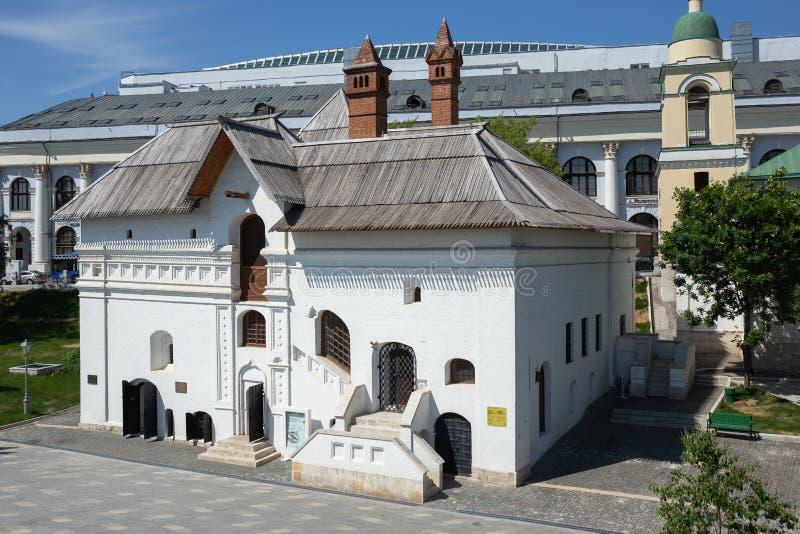 Museo de la historia de la vieja corte inglesa en el parque de Zaryadye en Moscú fotografía de archivo
