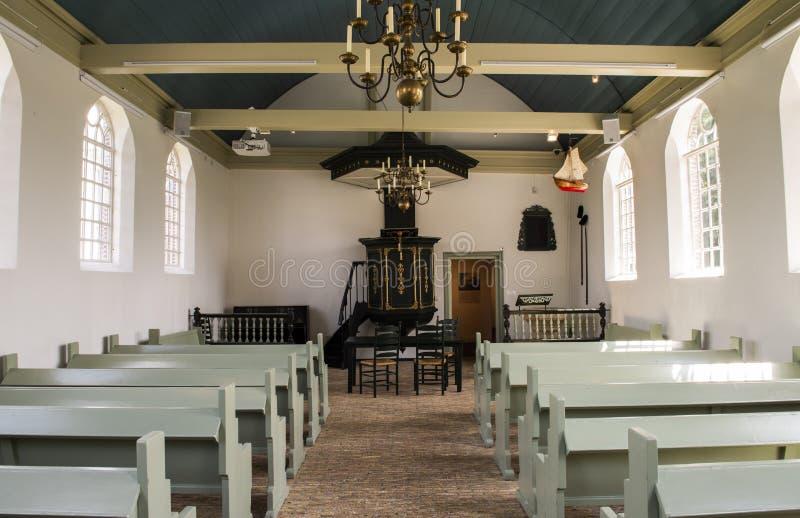 Museo de la iglesia en Schokland Flevolanda imágenes de archivo libres de regalías