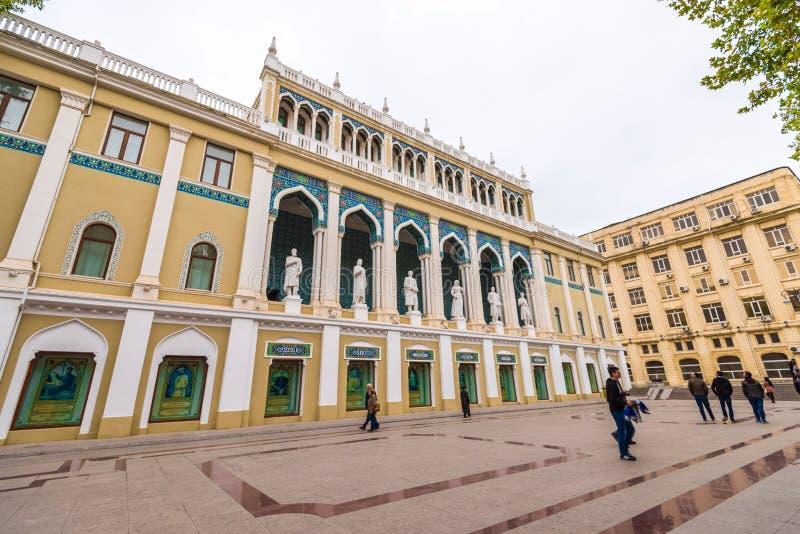 Museo de la literatura Nizami fotos de archivo libres de regalías
