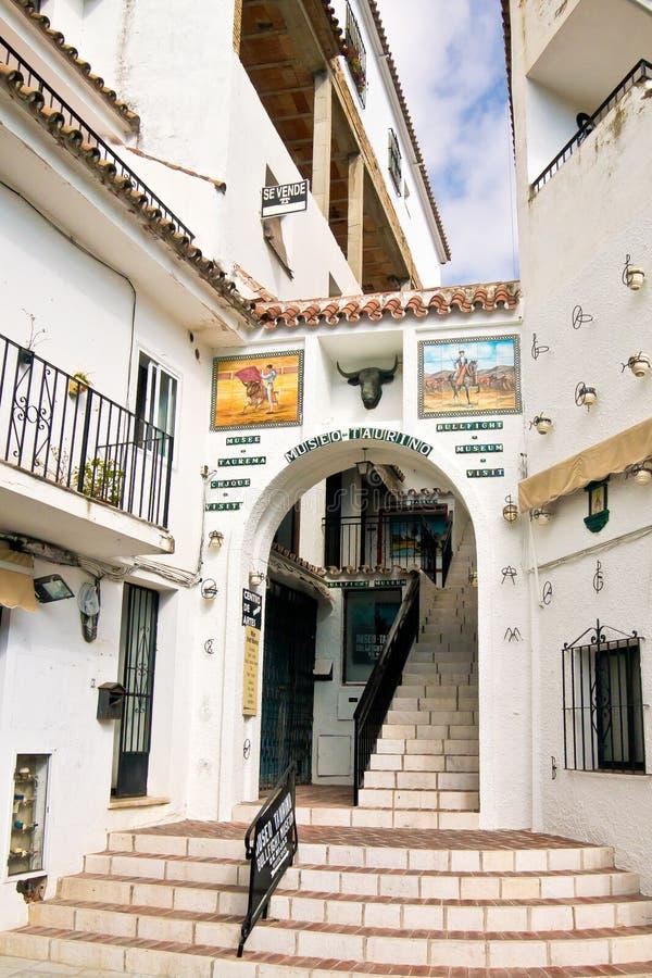 Museo de la lucha de Bull en Mijas, España imagen de archivo libre de regalías