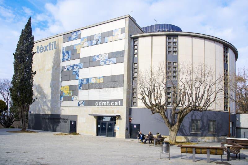 Museo de la materia textil en Terrassa, España fotografía de archivo
