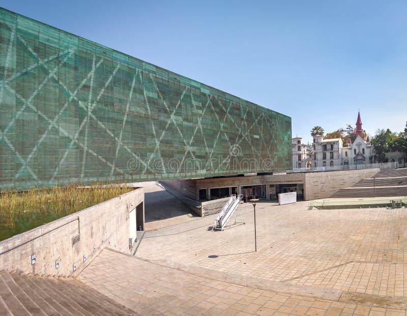 Museo de la memoria y de los derechos humanos - Santiago, Chile imagenes de archivo