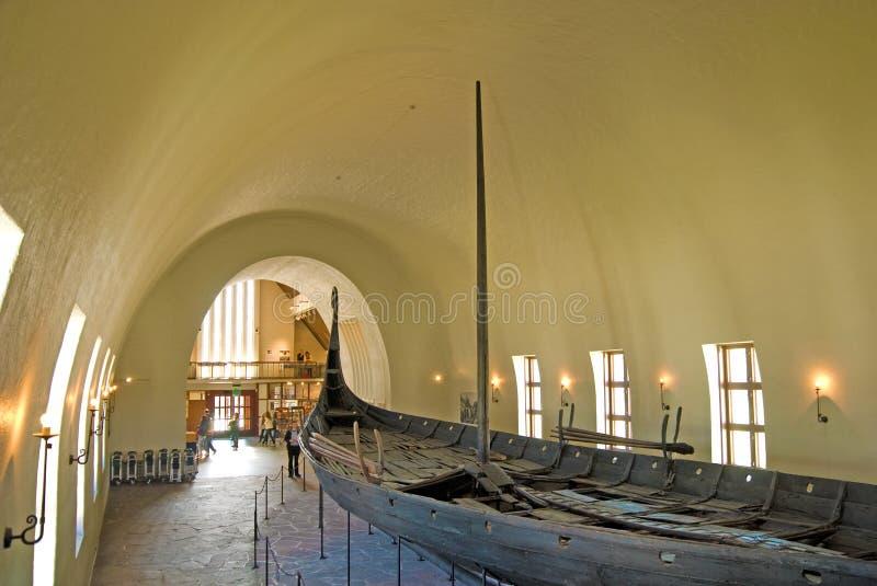 Museo de la nave de Vikingo. Oslo. Noruega fotografía de archivo