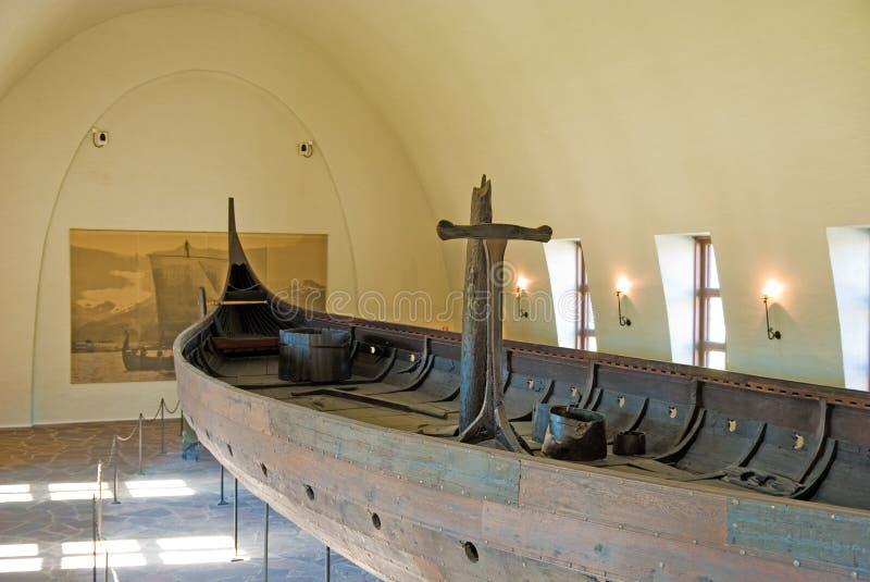 Museo de la nave de Vikingo. Oslo. Noruega foto de archivo