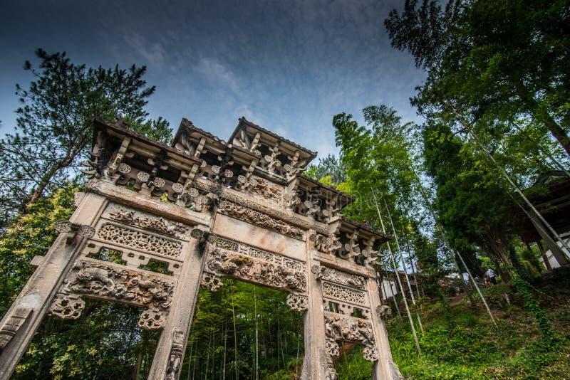 Museo de la residencia de Huangshan Qiankou imagenes de archivo