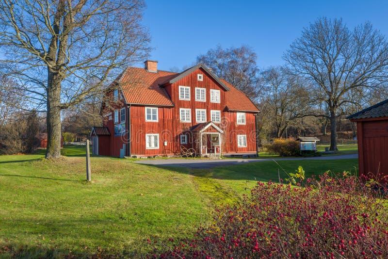 Museo de las tallas de la roca en Norrkoping fotos de archivo