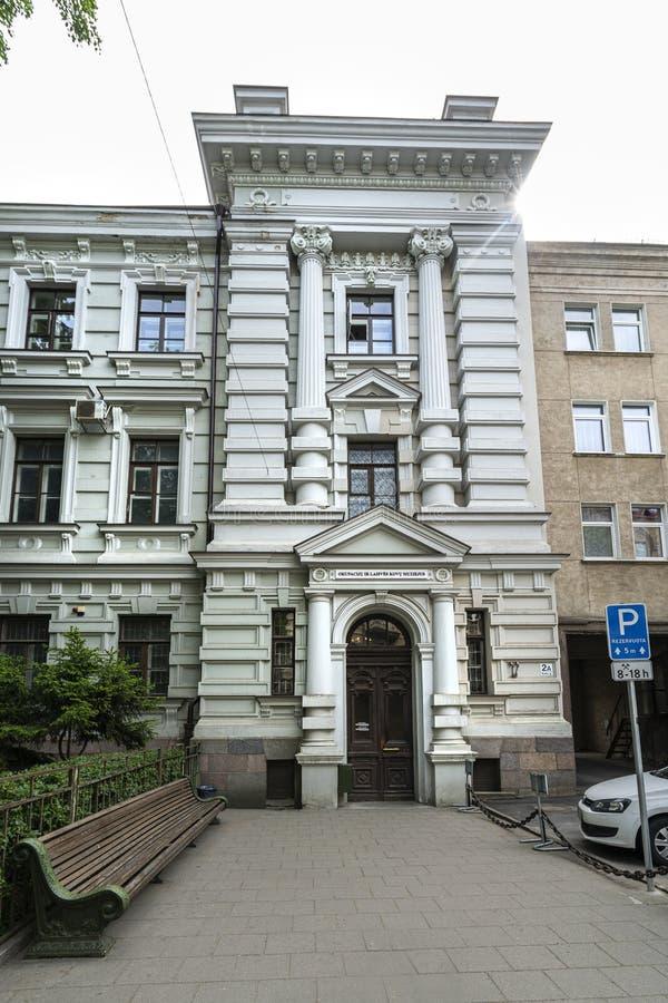 Museo de las v?ctimas del genocidio en Vilna imágenes de archivo libres de regalías