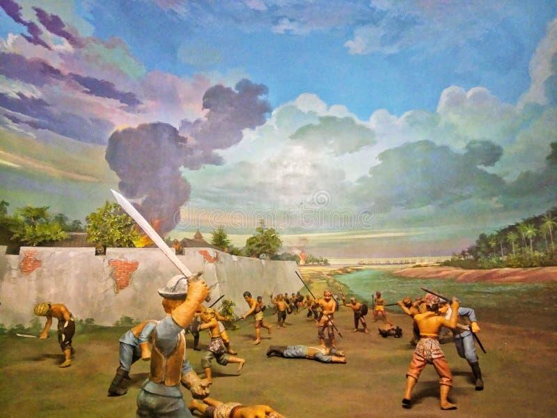 Museo de los soldados de las dioramas, Taman Mini Indonesia Indah y x28 indonesios; TMII& x29; , Jakarta, Indonesia fotos de archivo libres de regalías