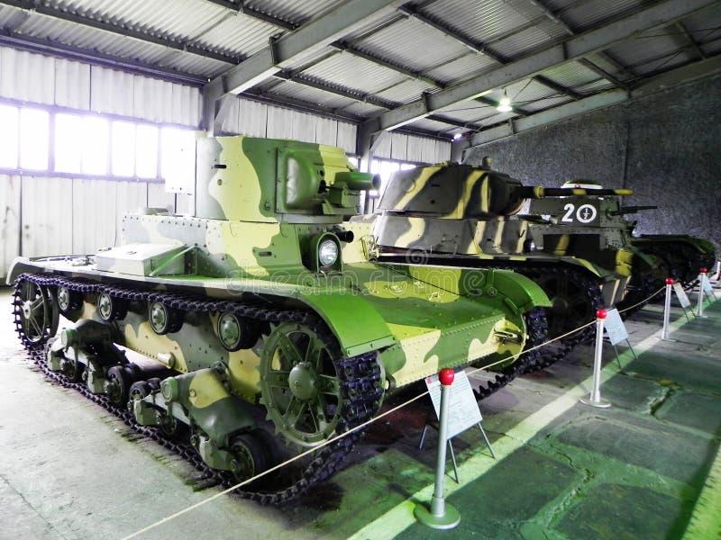 Museo de los tanques y de las armas acorazadas Museo dedicado al equipo militar y a la tecnolog?a Detalles y primer imagen de archivo libre de regalías