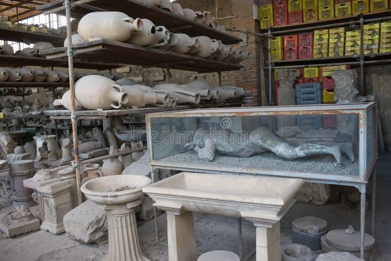 Museo de Pompeii fotografía de archivo