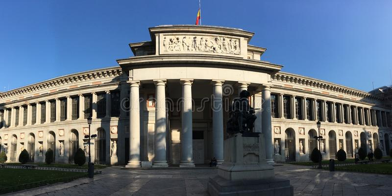 Museo de Prado en Madrid, España foto de archivo libre de regalías