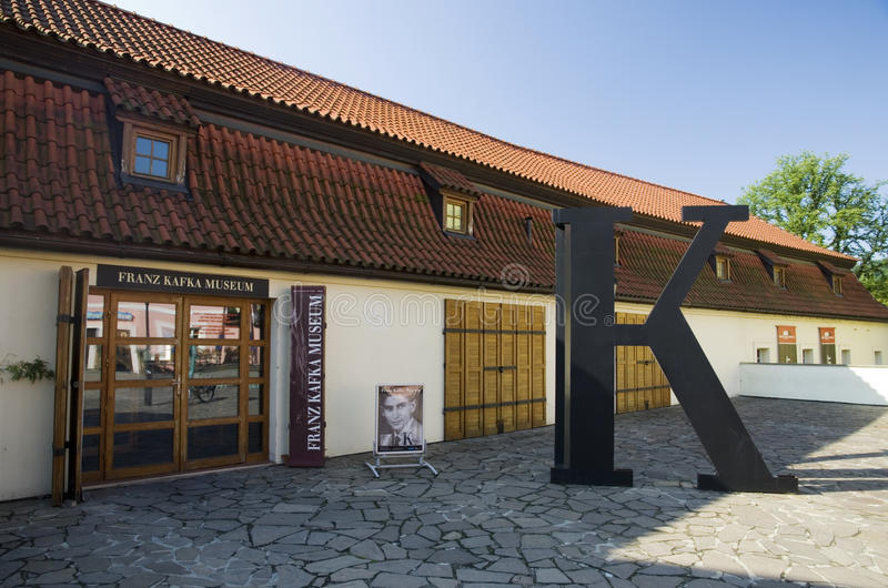 Museo de Praga Franz Kafka imagen de archivo