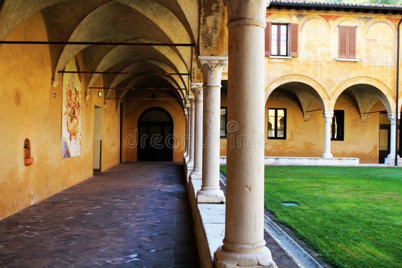Museo de Santa Giulia, claustro del renacimiento en la Brescia fotografía de archivo libre de regalías