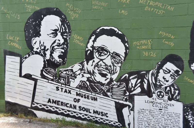 Museo de Stax del mural americano de la m?sica del alma foto de archivo