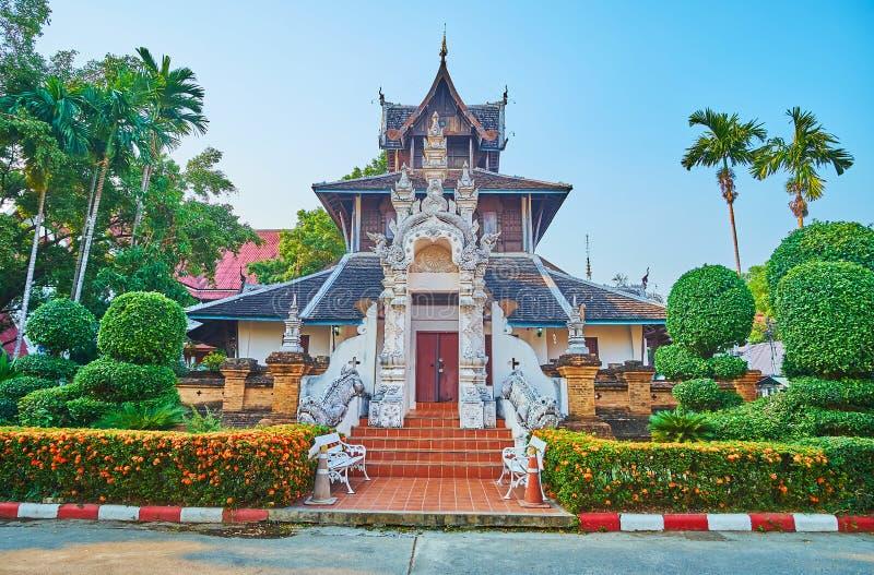 Museo de Wat Chedi Luang, Chiang Mai, Tailandia fotos de archivo libres de regalías