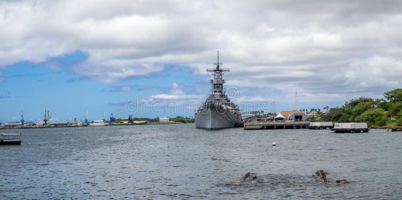 Museo del acorazado de USS Missouri imagen de archivo