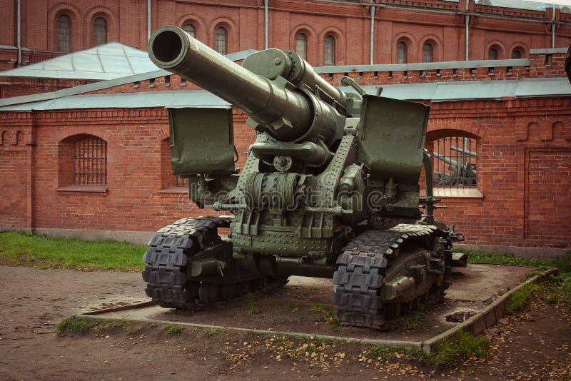 Museo del cañón de St Petersburg de la artillería imagen de archivo libre de regalías