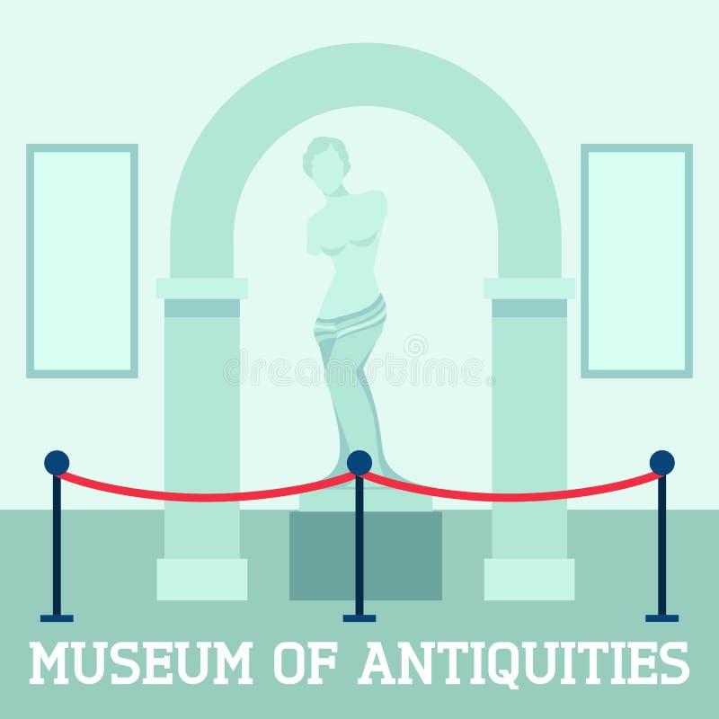 Museo del cartel de las antigüedades ilustración del vector