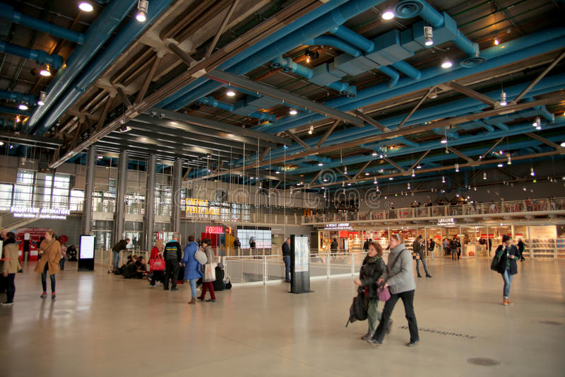 Museo del Centre Pompidou en París fotografía de archivo