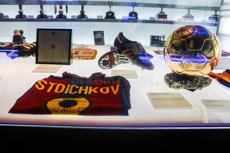 Museo del club del fútbol de Barcelona imagen de archivo