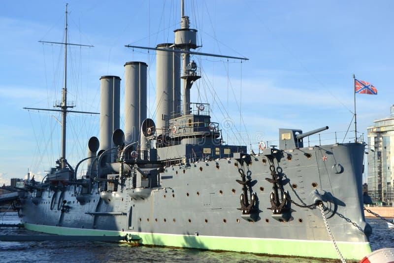 Museo del crucero de la aurora en St Petersburg fotografía de archivo libre de regalías