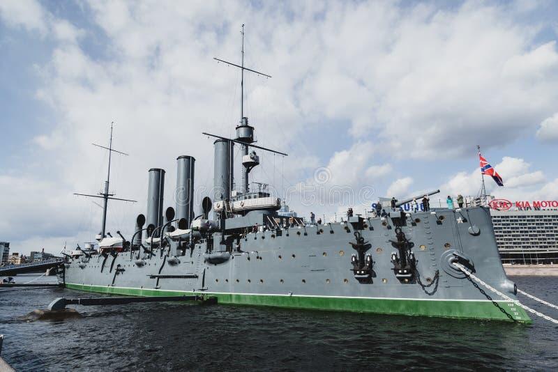 Museo del crucero de la aurora, St Petersburg fotos de archivo libres de regalías