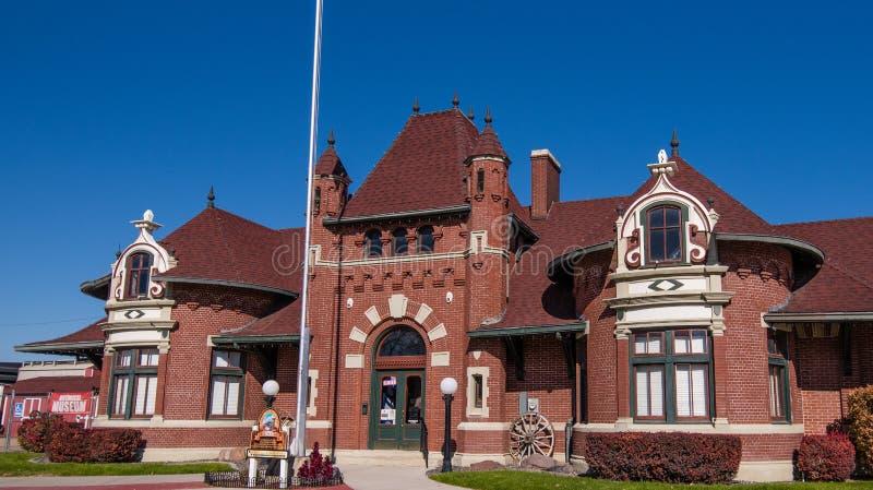 Museo del depósito de tren de Nampa foto de archivo libre de regalías