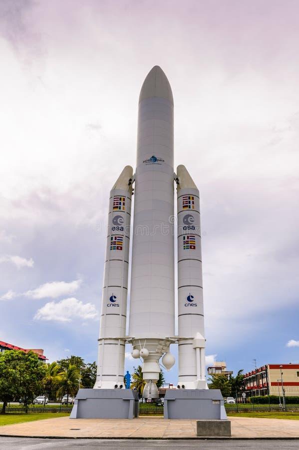 Museo del espacio en Kourou, la Guayana Francesa foto de archivo