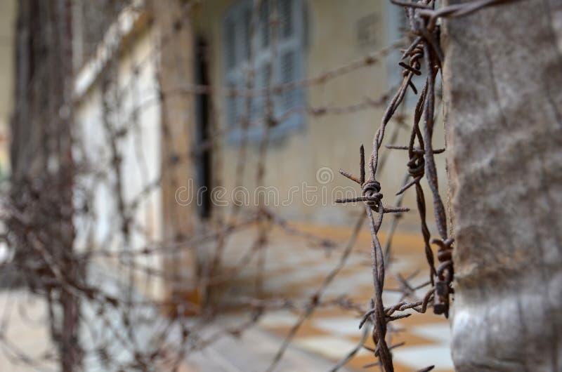 Museo del genocidio de Tuol Sleng en Phnom Penh foto de archivo