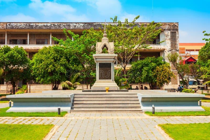 Museo del genocidio de Tuol Sleng, Phnom Penh imagen de archivo libre de regalías