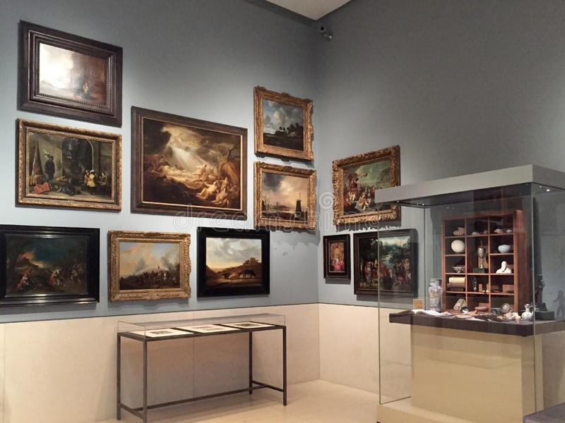 Museo del interior de Houston de las bellas arte imagen de archivo