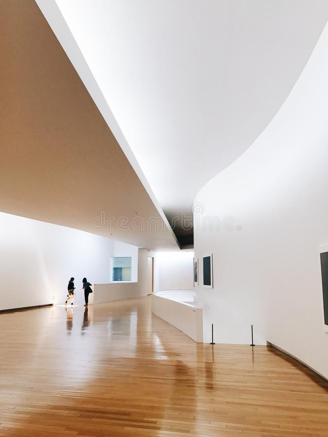 Museo del interior de la arquitectura foto de archivo