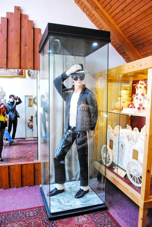 Museo del mazapán en Sant Andreu en Hungría Figura del chocolate de Michael Jackson imágenes de archivo libres de regalías