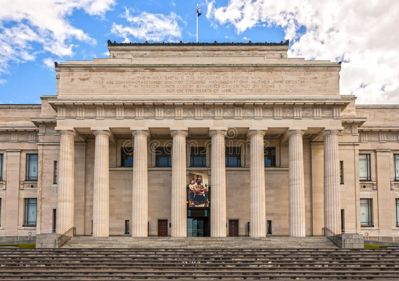 Museo del monumento de guerra de Auckland foto de archivo