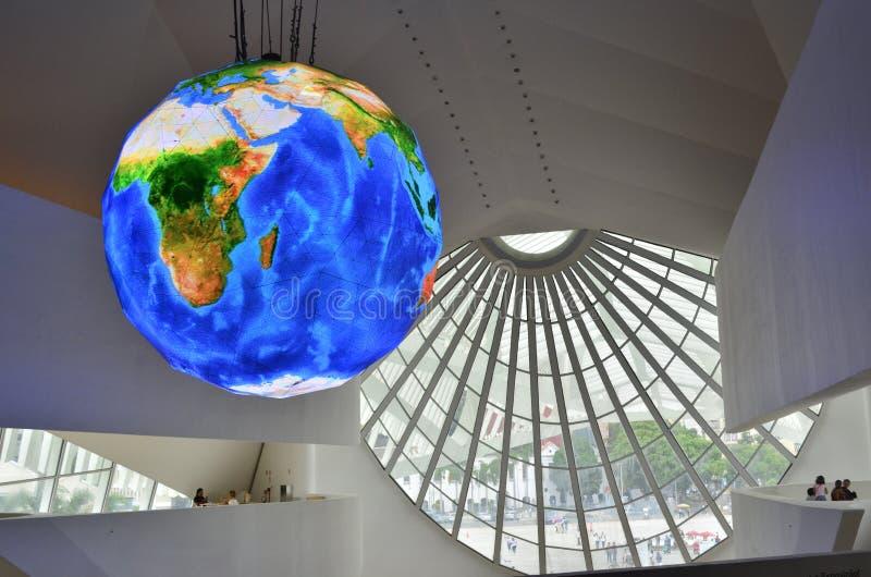 Museo del mundo de la mañana imagen de archivo libre de regalías