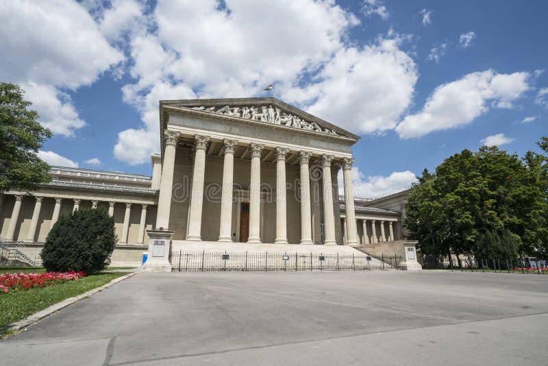 Museo del palazzo di belle arti a Budapest fotografie stock