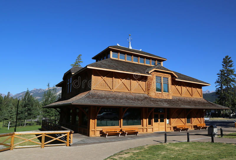 Museo del parque nacional de Banff en la ciudad de Banff foto de archivo libre de regalías