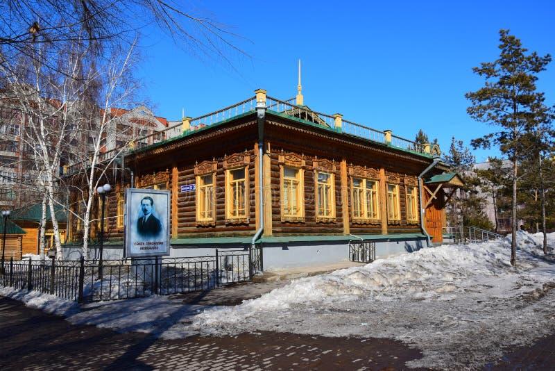 Museo del poeta Saken Seifullin del Kazakh en Astaná foto de archivo