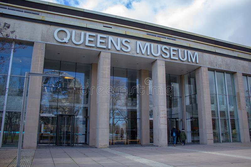 Museo del Queens a Flushing Meadows Corona Park fotografia stock