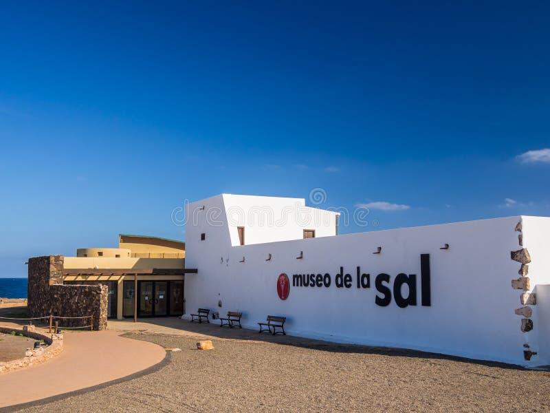 Museo del sale a Fuerteventura, isole Canarie fotografia stock libera da diritti