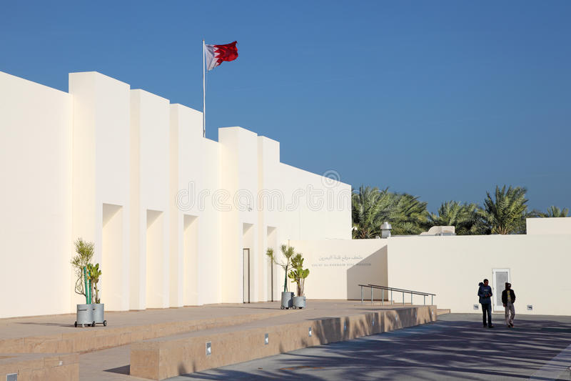Museo del sito di Qal'at Al-Bahrain a Manama fotografie stock libere da diritti