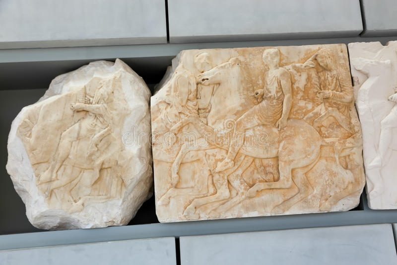 Museo dell'acropoli, Atene immagini stock
