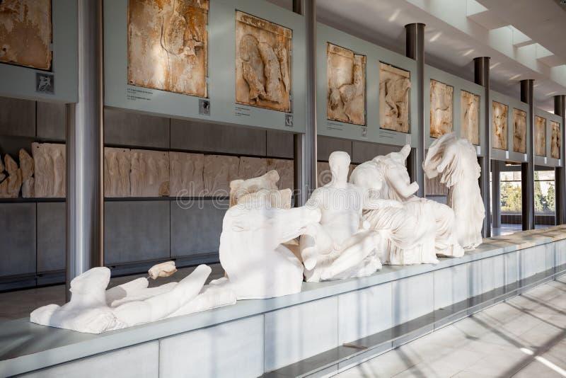 Museo dell'acropoli nel punto di vista della parte di destra di Atene? immagini stock