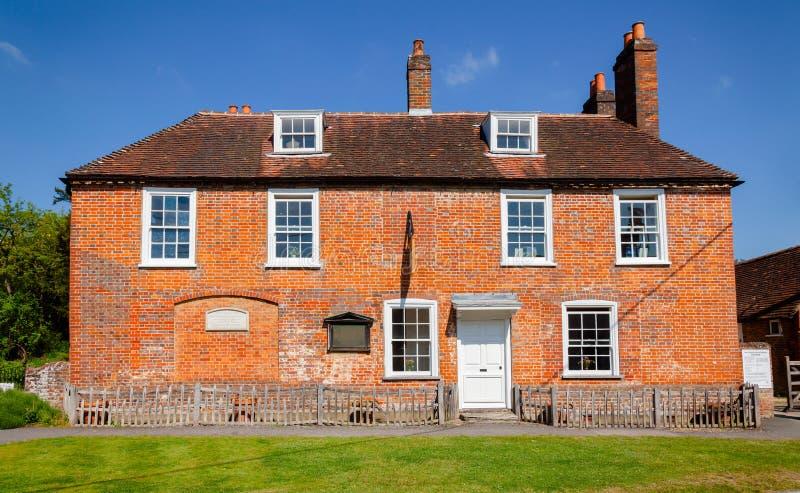 Museo della Camera di Jane Austen in Chawton Hampshire Inghilterra sudorientale fotografia stock libera da diritti