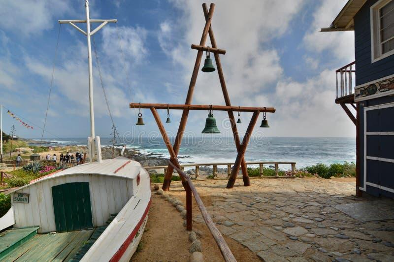 Museo della casa del de Isla Negra della casa di Pablo Neruda Isla Negra chile fotografia stock libera da diritti