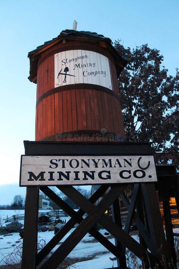 Museo della città di estrazione mineraria fotografia stock libera da diritti