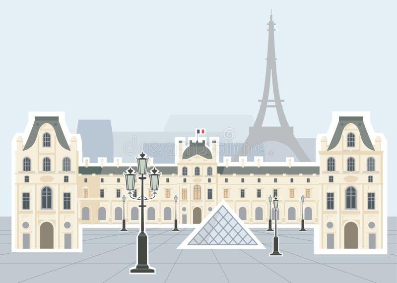 Museo della feritoia, Parigi royalty illustrazione gratis