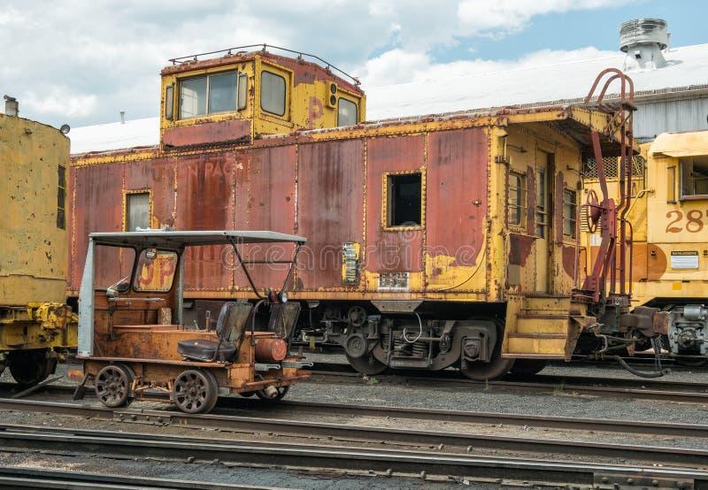 Museo della ferrovia di Portola del nostalgico fotografie stock libere da diritti