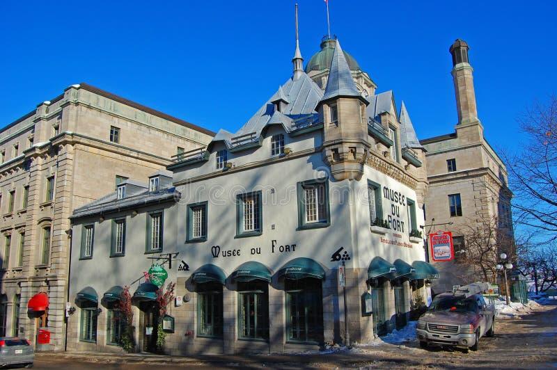 Museo della fortificazione a vecchio Québec, Canada fotografie stock libere da diritti
