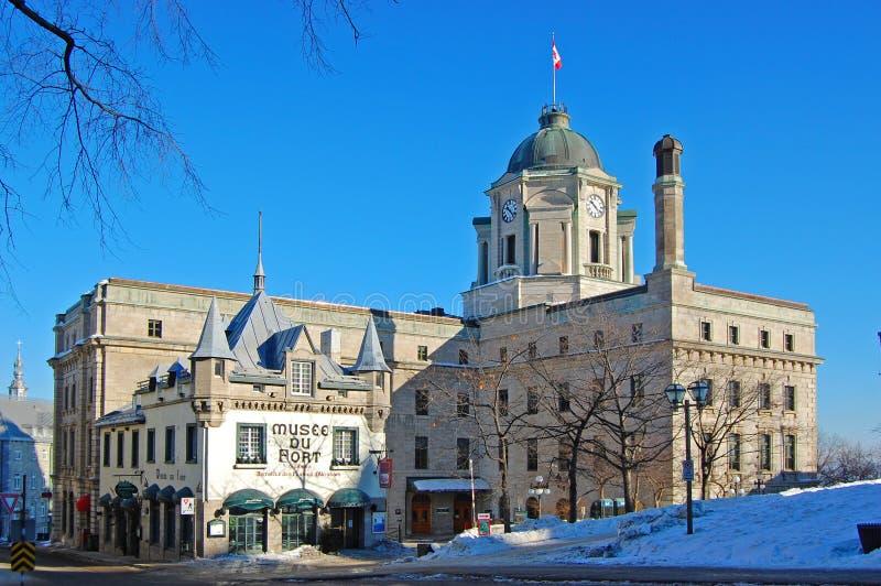 Museo della fortificazione a vecchio Québec, Canada fotografia stock libera da diritti